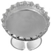 Bezel Cast Ring Bottle Cap 32x6.65mm Silver Plated